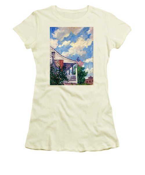 Dyckman House Nyc Women's T-Shirt (Athletic Fit)