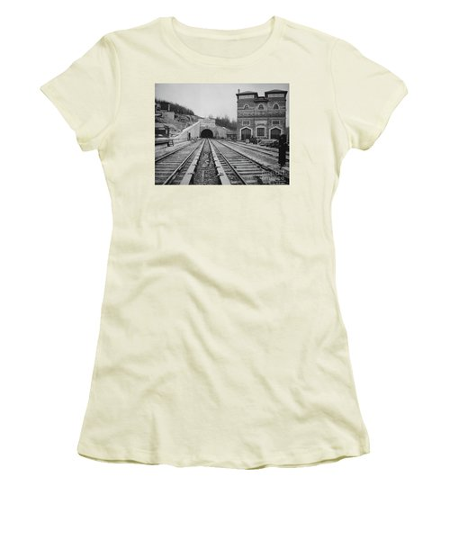 Women's T-Shirt (Athletic Fit) featuring the photograph Dyckman Street Station by Cole Thompson