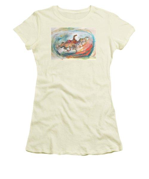 Dynamic Run Women's T-Shirt (Junior Cut) by Mary Armstrong