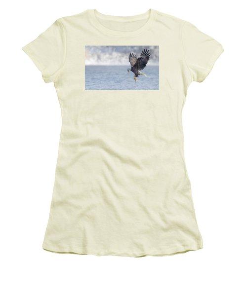Eagle Fishing  Women's T-Shirt (Junior Cut) by Kelly Marquardt