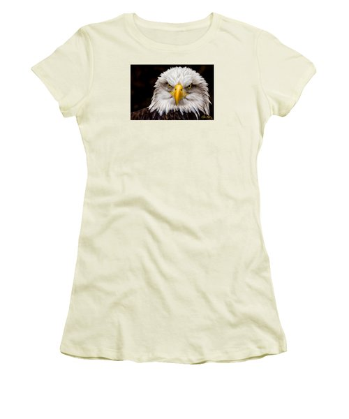 Defiant And Resolute - Bald Eagle Women's T-Shirt (Athletic Fit)