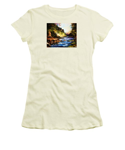 Early Dawn Campfire Women's T-Shirt (Athletic Fit)
