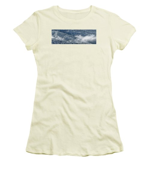 Women's T-Shirt (Junior Cut) featuring the photograph Early Morning After A Snowfall by Sebastien Coursol