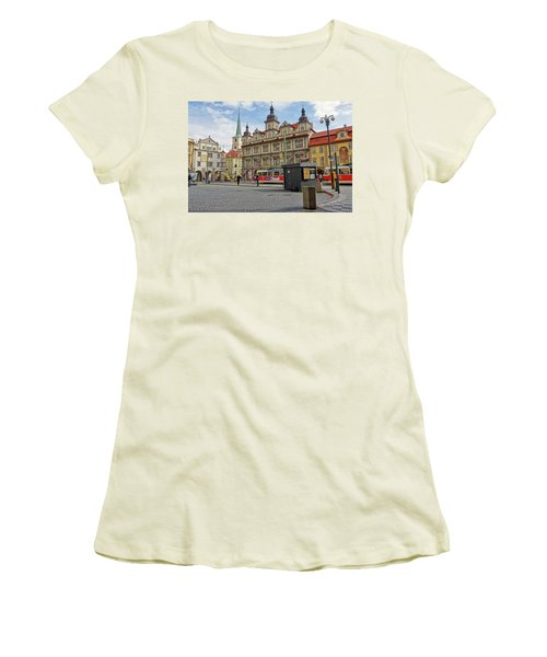 Early Morning In Prague Women's T-Shirt (Athletic Fit)