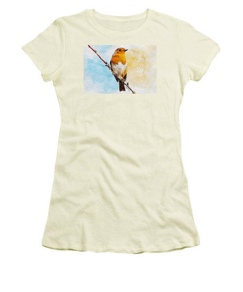 Women's T-Shirt (Junior Cut) featuring the painting Early Spring by Greg Collins