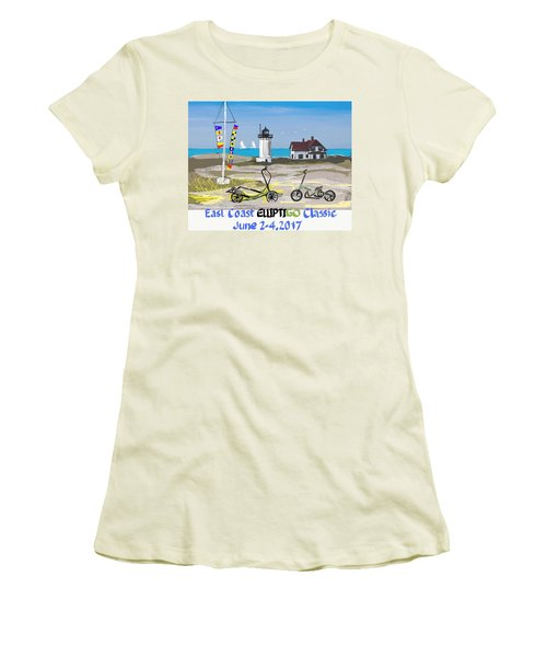East Coast Elliptigo Classic  Opus 3 Women's T-Shirt (Athletic Fit)