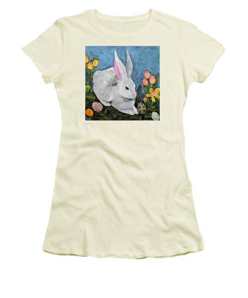 Easter Bunny  Women's T-Shirt (Junior Cut) by Reina Resto