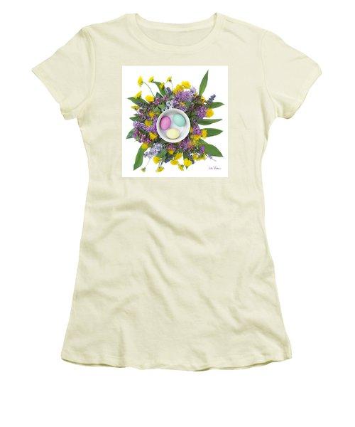 Women's T-Shirt (Junior Cut) featuring the digital art Eggs In A Bowl by Lise Winne