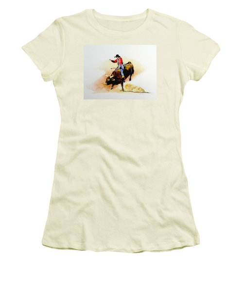 Eight Second Shift Women's T-Shirt (Junior Cut) by Jimmy Smith