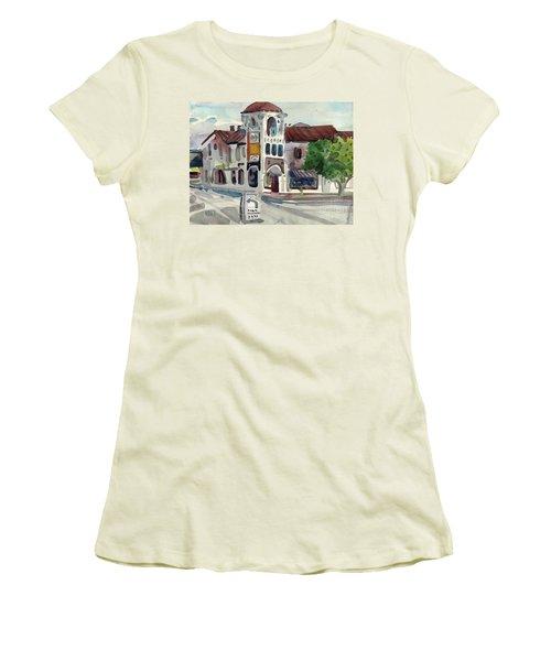 El Camino Real In San Carlos Women's T-Shirt (Junior Cut) by Donald Maier