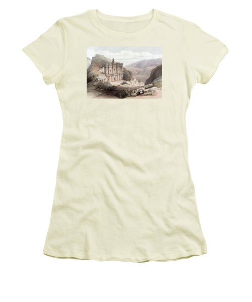 El Deir Petra 1839 Women's T-Shirt (Athletic Fit)