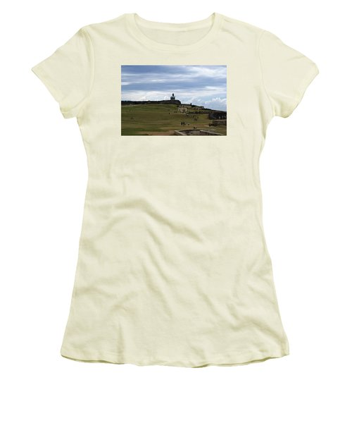 Women's T-Shirt (Junior Cut) featuring the photograph El Morro by Lois Lepisto