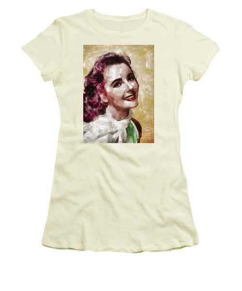 Elizabeth Taylor, Vintage Hollywood Legend By Mary Bassett Women's T-Shirt (Athletic Fit)