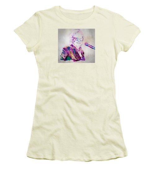Elton John Women's T-Shirt (Junior Cut) by Dan Sproul
