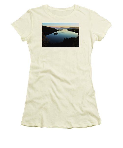 Emerald Bay, Lake Tahoe, Dawn Women's T-Shirt (Athletic Fit)