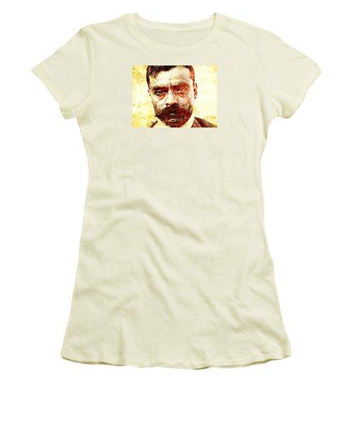 Emiliano Zapata Women's T-Shirt (Junior Cut) by J- J- Espinoza