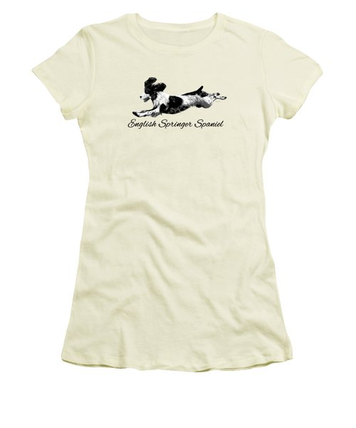 Women's T-Shirt (Junior Cut) featuring the digital art English Springer Spaniel by Ann Lauwers