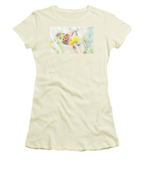 Women's T-Shirt (Athletic Fit) featuring the photograph Ethereal Butterfly by Andrea Anderegg