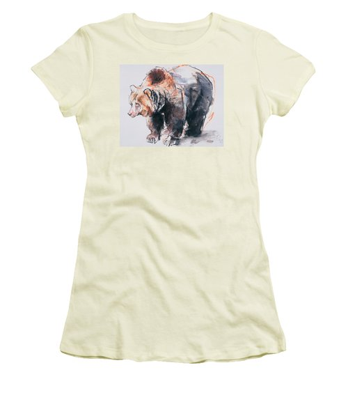 European Brown Bear Women's T-Shirt (Athletic Fit)