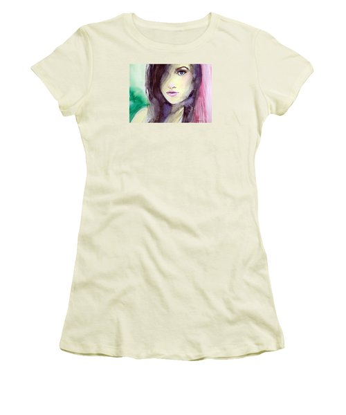 Women's T-Shirt (Junior Cut) featuring the painting Olivia by Ed  Heaton