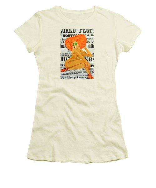 Eve  Caution Women's T-Shirt (Junior Cut) by Deedee Williams