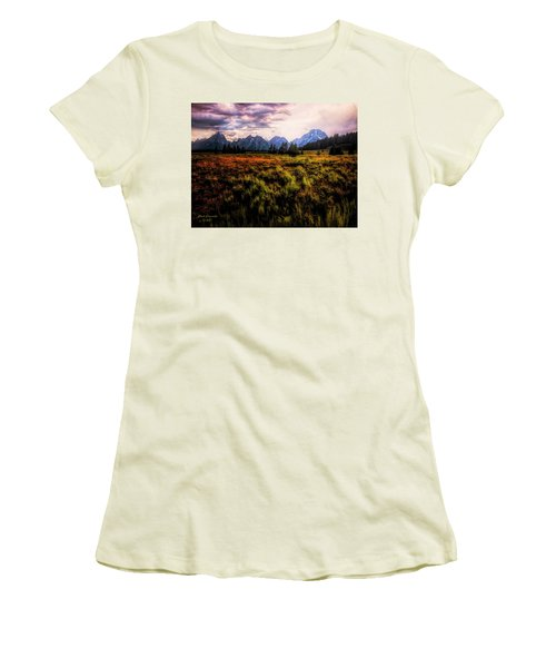 Evening At The Grand Tetons  ... Women's T-Shirt (Athletic Fit)