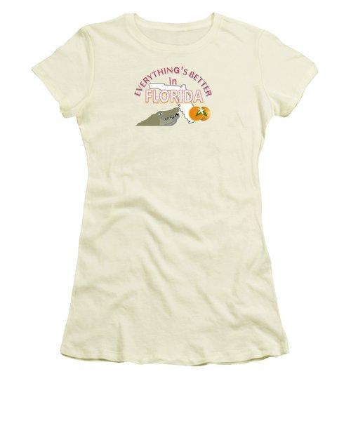 Everything's Better In Florida Women's T-Shirt (Junior Cut) by Pharris Art