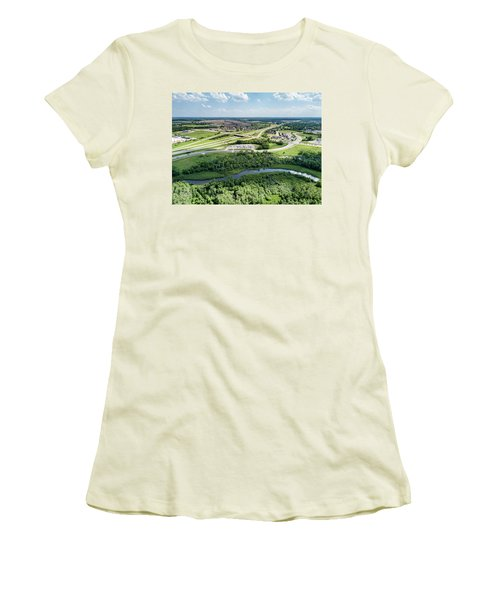 Women's T-Shirt (Athletic Fit) featuring the photograph Exit 43 by Randy Scherkenbach