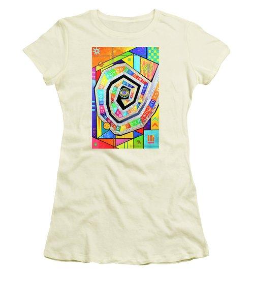 Eye Of The Storm Women's T-Shirt (Junior Cut) by Jeremy Aiyadurai