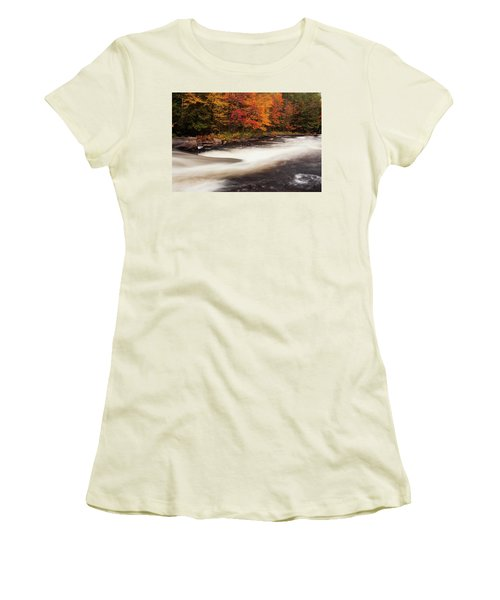 Fall At Oxtongue Rapids Women's T-Shirt (Athletic Fit)