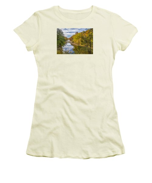 Fall At Turkey Run State Park Women's T-Shirt (Athletic Fit)