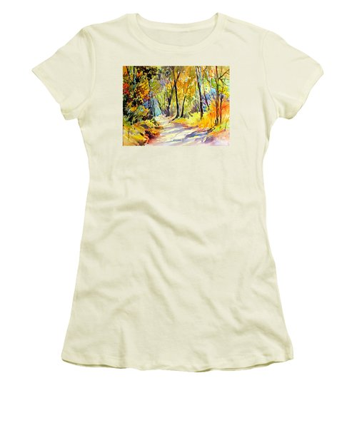 Fall Dazzle, Tennessee Women's T-Shirt (Junior Cut) by Rae Andrews