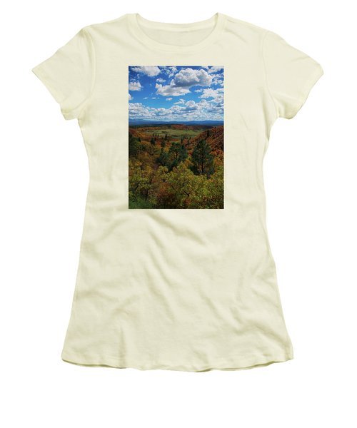 Fall On Four Mile Road Women's T-Shirt (Athletic Fit)