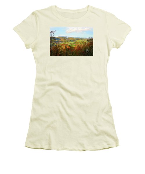 Fall Porch View Women's T-Shirt (Athletic Fit)