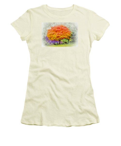 Fall Tree Women's T-Shirt (Junior Cut) by Greg Collins