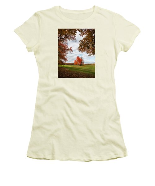 Fall Trees At Oatlands Women's T-Shirt (Athletic Fit)