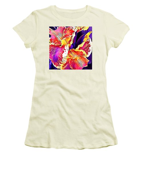 Fanciful Canna  Women's T-Shirt (Junior Cut) by Heidi Smith