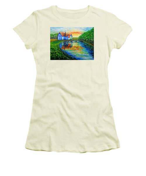 Farm House Women's T-Shirt (Junior Cut) by Viktor Lazarev