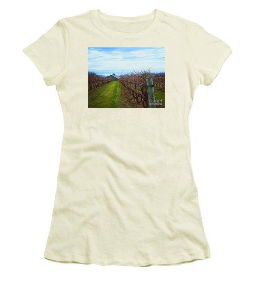 Farm Women's T-Shirt (Junior Cut) by Raymond Earley