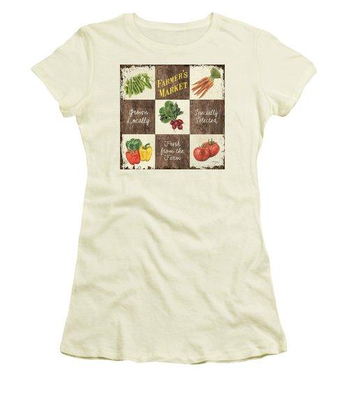 Farmer's Market Patch Women's T-Shirt (Athletic Fit)