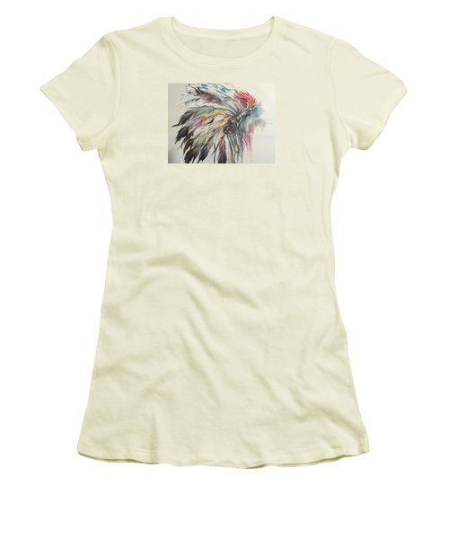 Feather Hawk Women's T-Shirt (Junior Cut) by Heather Roddy