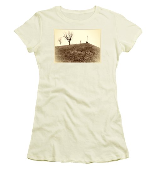 Women's T-Shirt (Junior Cut) featuring the photograph Federal Hill by Brian Wallace