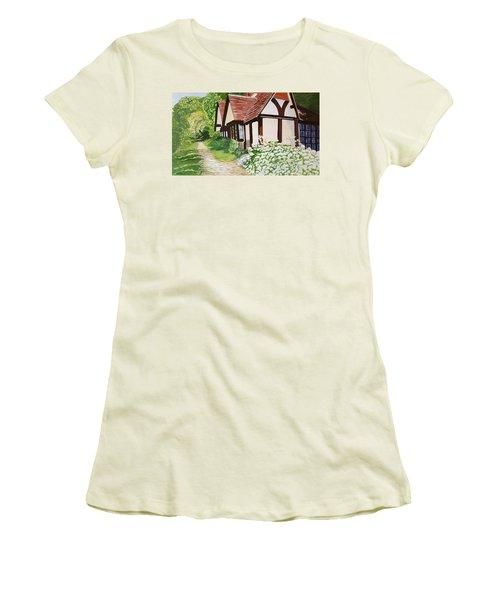 Ferry Cottage Women's T-Shirt (Junior Cut) by Joanne Perkins