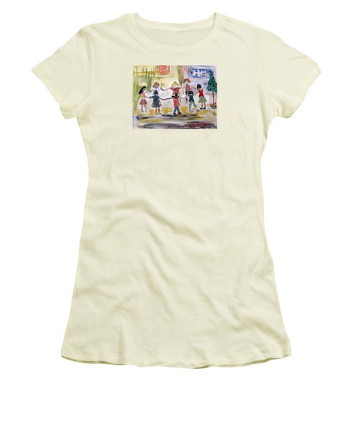 Finding Time To Play Women's T-Shirt (Junior Cut) by Mary Carol Williams