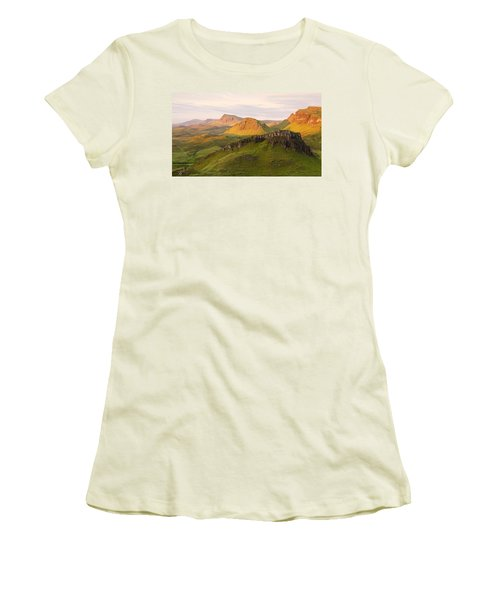 First Light On The Quairing  Women's T-Shirt (Athletic Fit)