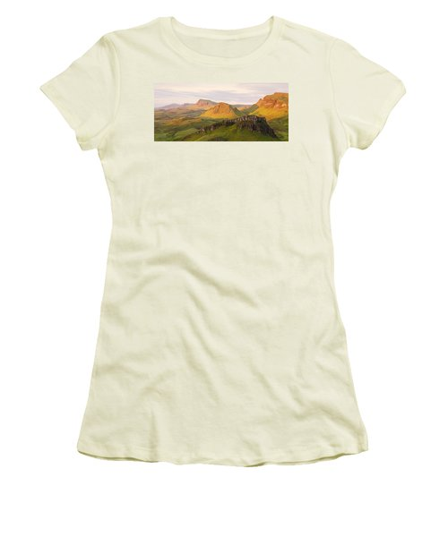 First Light Trotternish Panorama Women's T-Shirt (Athletic Fit)