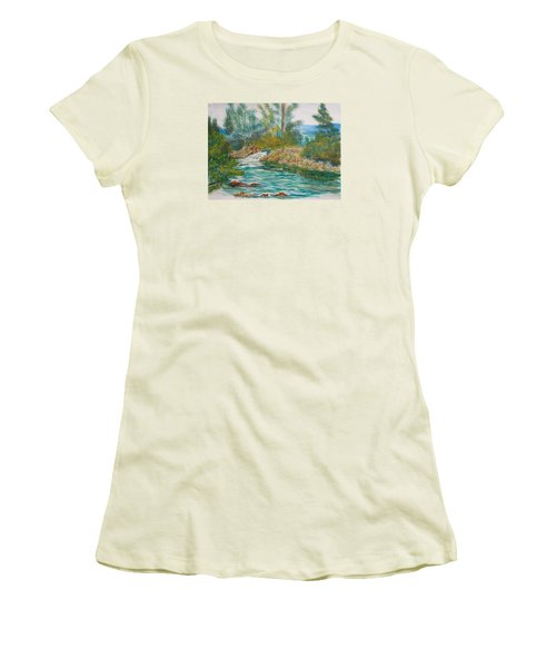 First Watercolour Women's T-Shirt (Athletic Fit)