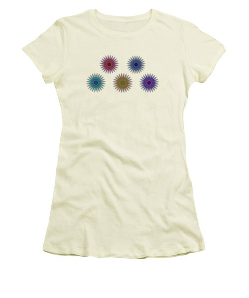 Five Flowers Women's T-Shirt (Athletic Fit)