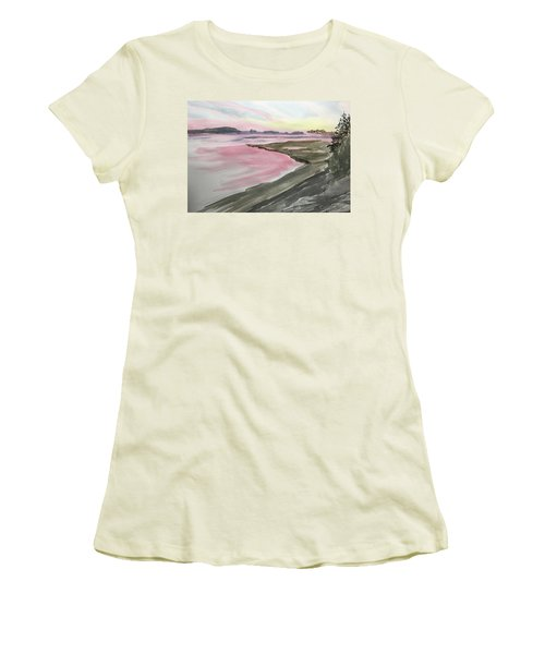Five Islands - Watercolor Sketch  Women's T-Shirt (Athletic Fit)