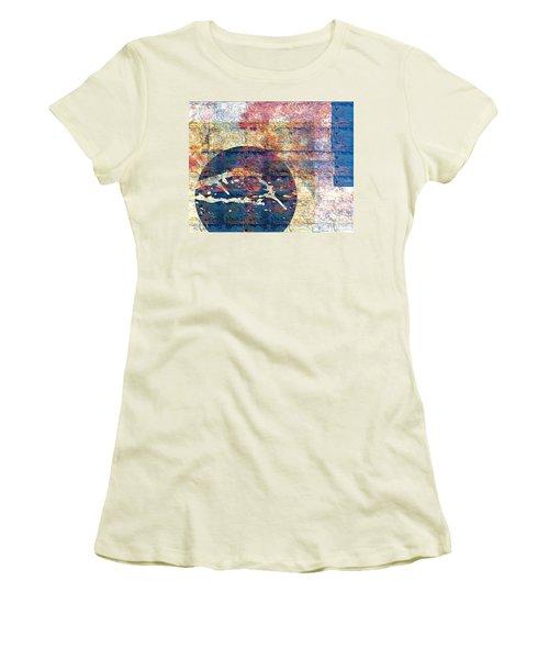 Women's T-Shirt (Junior Cut) featuring the digital art Flag by Gabrielle Schertz
